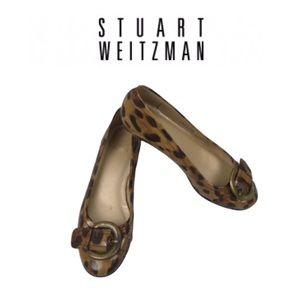 Stuart Weitzman Flat Animal Print Shoes. Sz 6M.